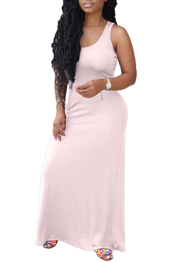 MB Fashion BabyPINK Maxi Dress 8134