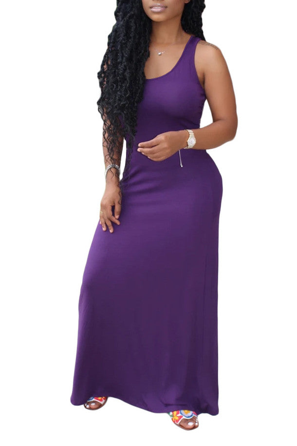 MB Fashion PURPLE Maxi Dress 8134