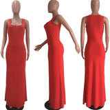 MB Fashion RED Maxi Dress 8134 change color later