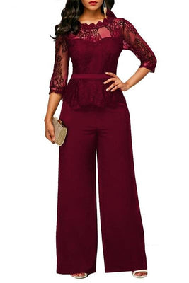 MB fashion Jumpsuit Burgundy mb 3597