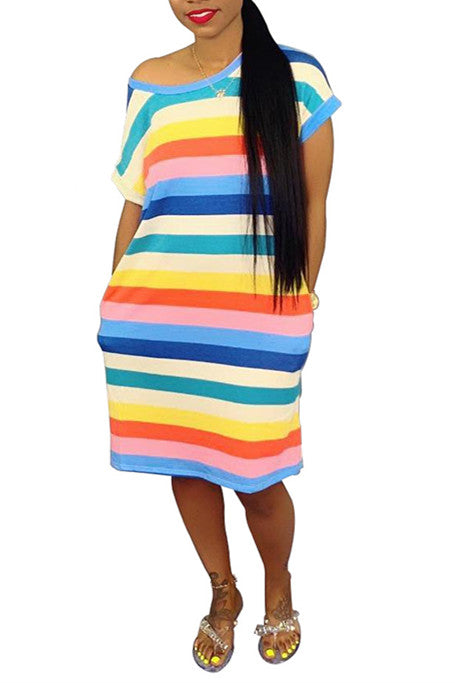 MB Fashion Rainbow Dress 1404
