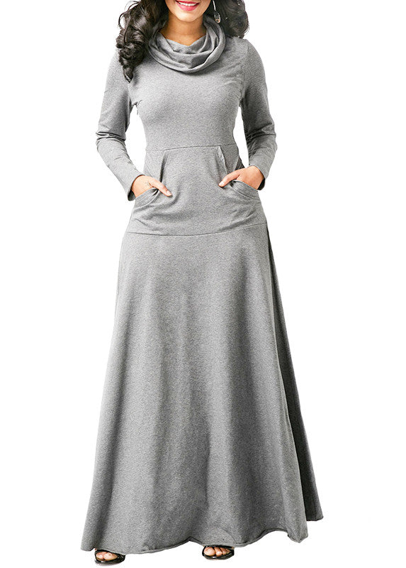 MB fashion Light Gray Casual Dress 4009