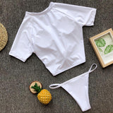 MB Fashion White 2PCs Set Swimming Suit LYB 001