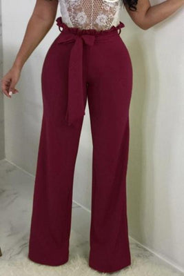 MB Fashion Paper Bag Vine Pants Burgundy 4793