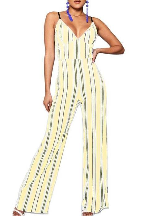 MB fashion Yellow Jumpsuit Set 4881