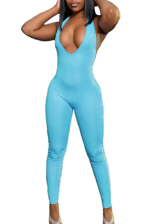 MB Fashion BLUE Jumpsuit 7715