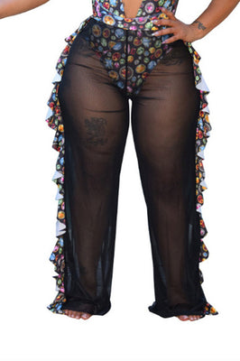 MB Fashion BLACK Pants 1615