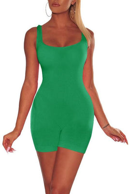 MB Fashion GREEN Skinny Rompers 416