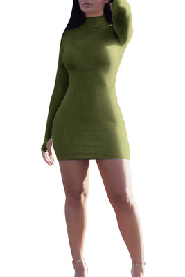 MB Fashion GREEN Dress 9445