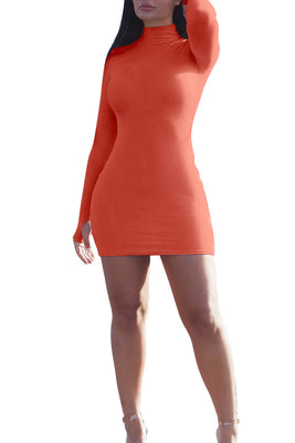MB Fashion ORANGE Dress 9445
