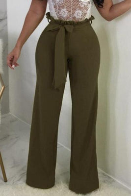 MB Fashion Paper Bag Vine Pants Green 4793