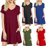 MB Fashion Red T Shirt Dress 8042