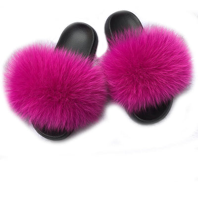 MB Fashion ROSE 93 Fur Sandals