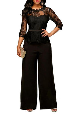 MB fashion Jumpsuit Black mb 3597