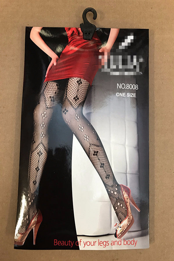 Pattern Net Lace Fashion Black Pantyhose / 6 Pcs /Pack