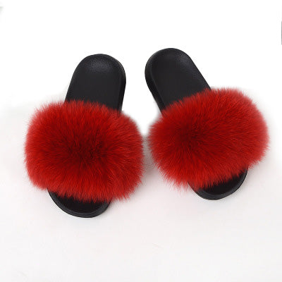 MB Fashion RED 88 Fur Sandals