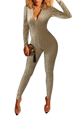 MB Fashion KHAKI Jumpsuit 3779