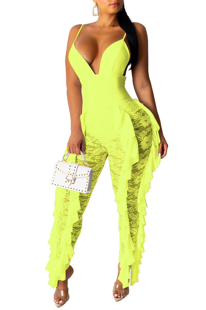 MB Fashion GREEN Jumpsuit 3275