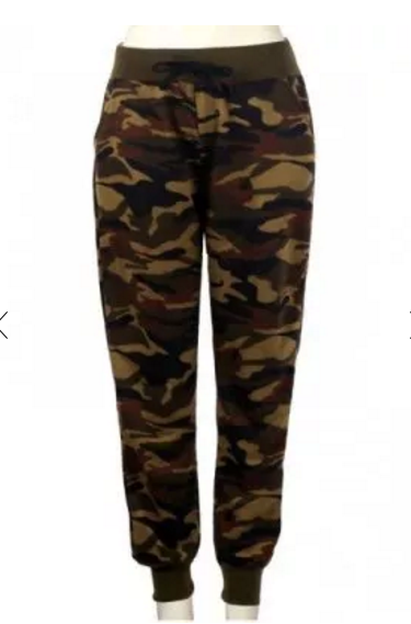 MB Fashion Army Print Pants P 209-1