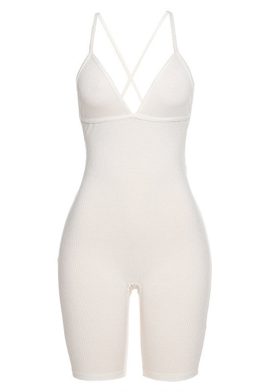 MB Fashion WHITE Jumpsuits 7491