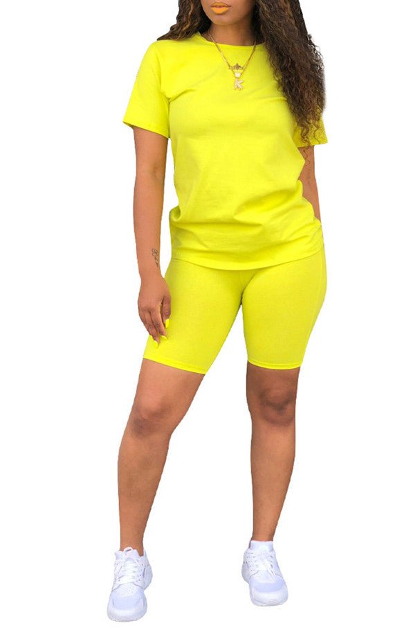MB Fashion Solid YELLOW 2 PCs Set 6664