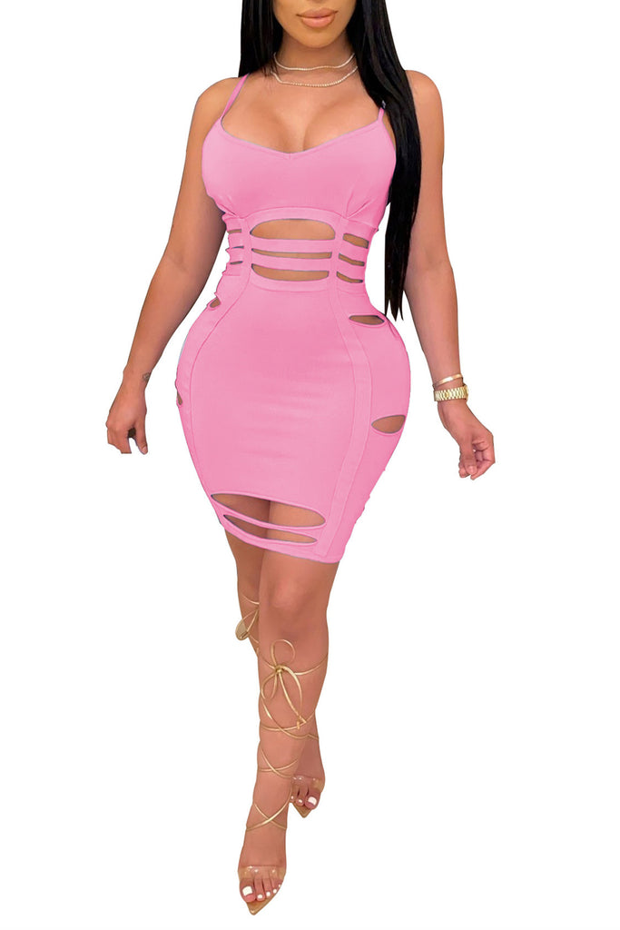 MB Fashion PINK Sex Dress 8095