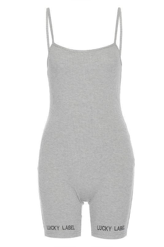 MB Fashion GRAY Short Jumpsuit 7428