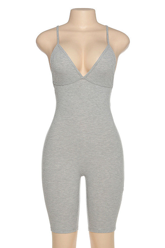 MB Fashion GRAY Jumpsuits 7491