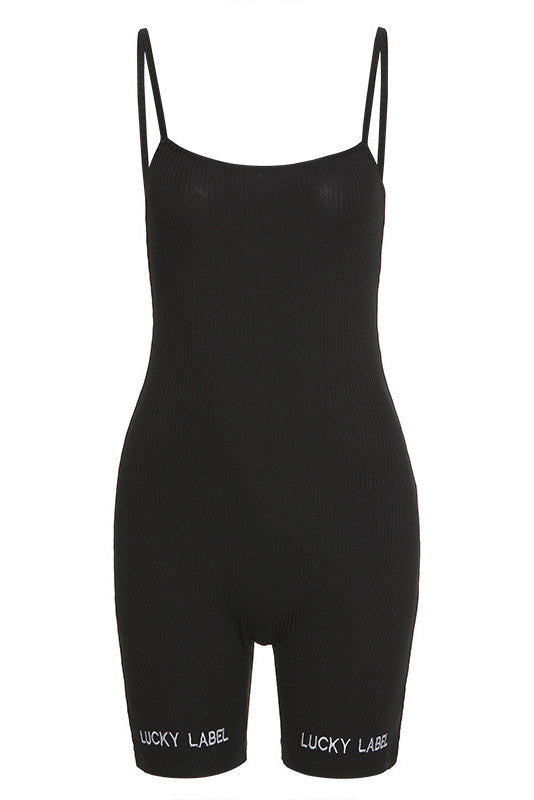 MB Fashion BLACK Short Jumpsuit 7428