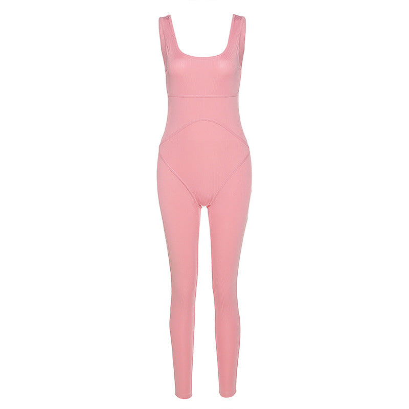 MB Fashion PINK Jumpsuit 7343