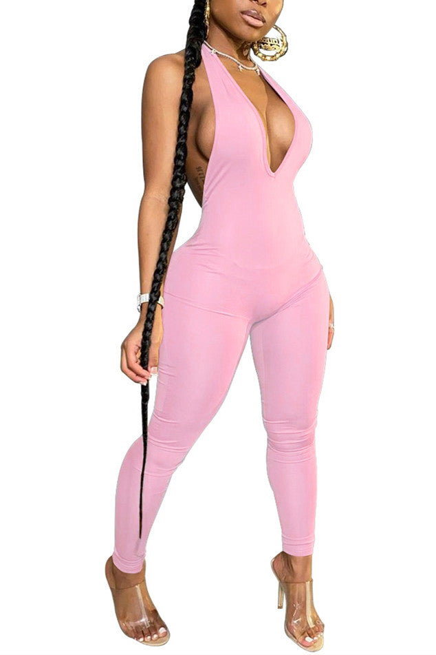 MB Fashion PINK Jumpsuit 9056