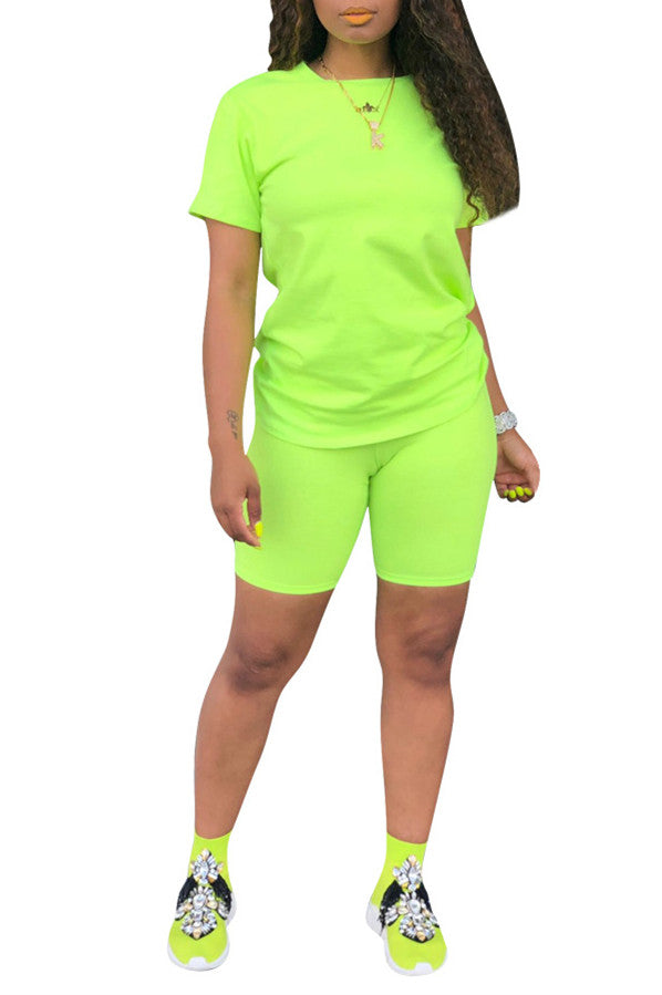 MB Fashion NEON GREEN 2 PCs Set 6664