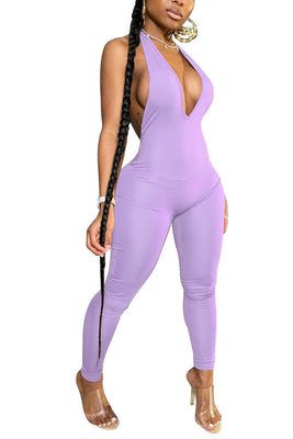 MB Fashion PURPLE Jumpsuit 9056