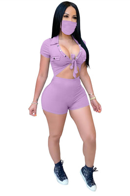 MB Fashion PURPLE 3 PCs Set 9138