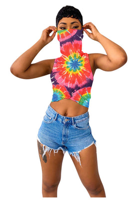 MB Fashion MULTI 1 TIE-DYE RED Top 7977