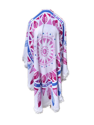 MB Fashion Multi PINK Beach Towel  1