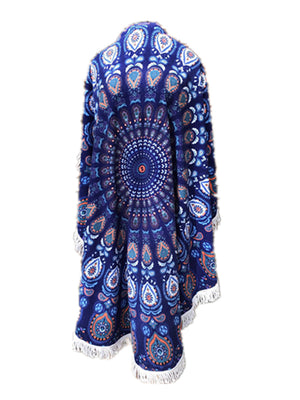 MB Fashion Peacock Print Beach Towel 8