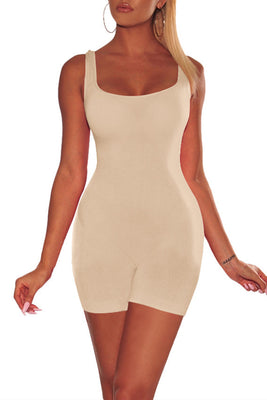 MB Fashion BEIGE Skinny Rompers 416
