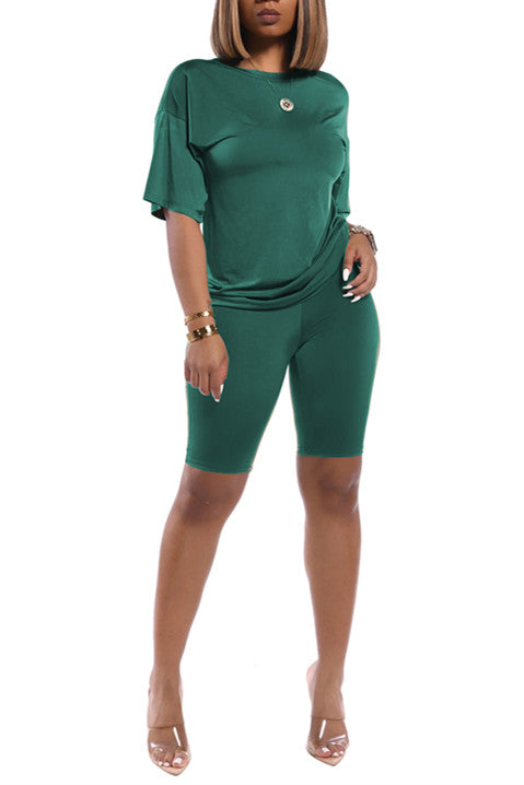 MB Fashion Solid GREEN 2 PCs Set 1006
