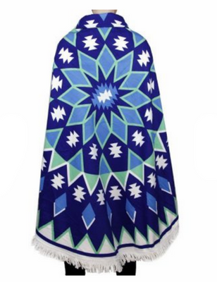 MB Fashion Multi Blue Green Beach Towel 3