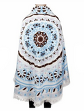 MB Fashion Multi White Brown Beach Towel 4