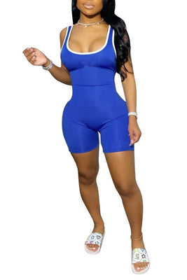 MB Fashion BLUE Jumpsuit 8648