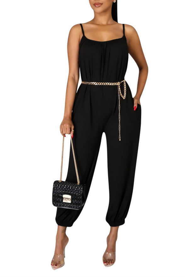 MB Fashion BLACK Jumpsuit 8379