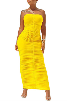 MB Fashion YELLOW Dress 8090