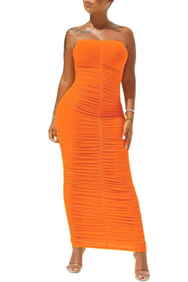 MB Fashion ORANGE Dress 8090