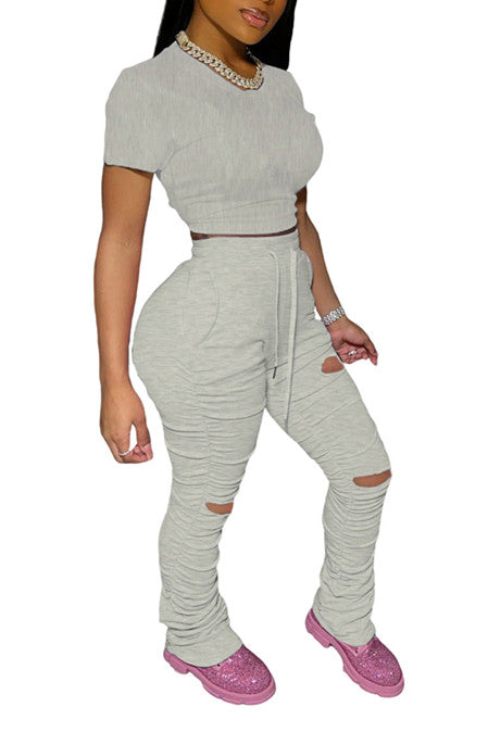 MB Fashion BEIGE GRAY2 PCs Set 8436
