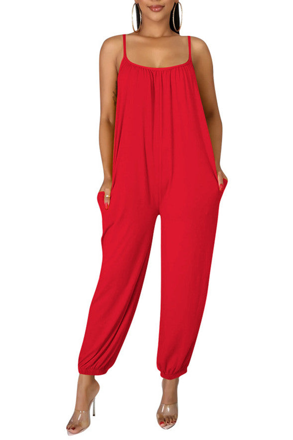 MB Fashion RED Jumpsuit 8379
