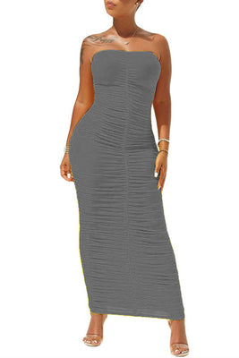 MB Fashion GRAY Dress 8090
