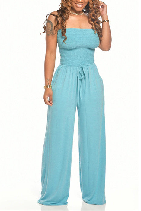 MB Fashion BLUE Jumpsuit 8429