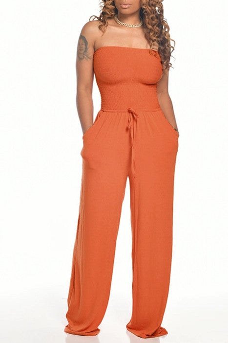 MB Fashion ORANGE Jumpsuit 8429